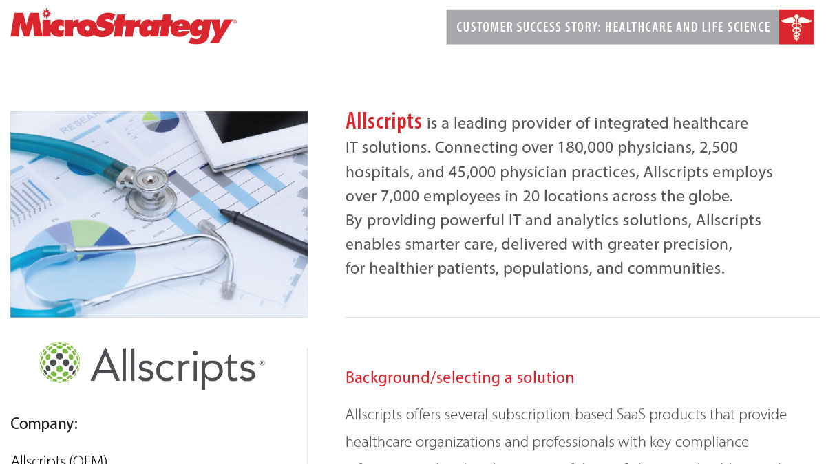 Allscripts Kunden-Success Story PDF-Miniaturansicht