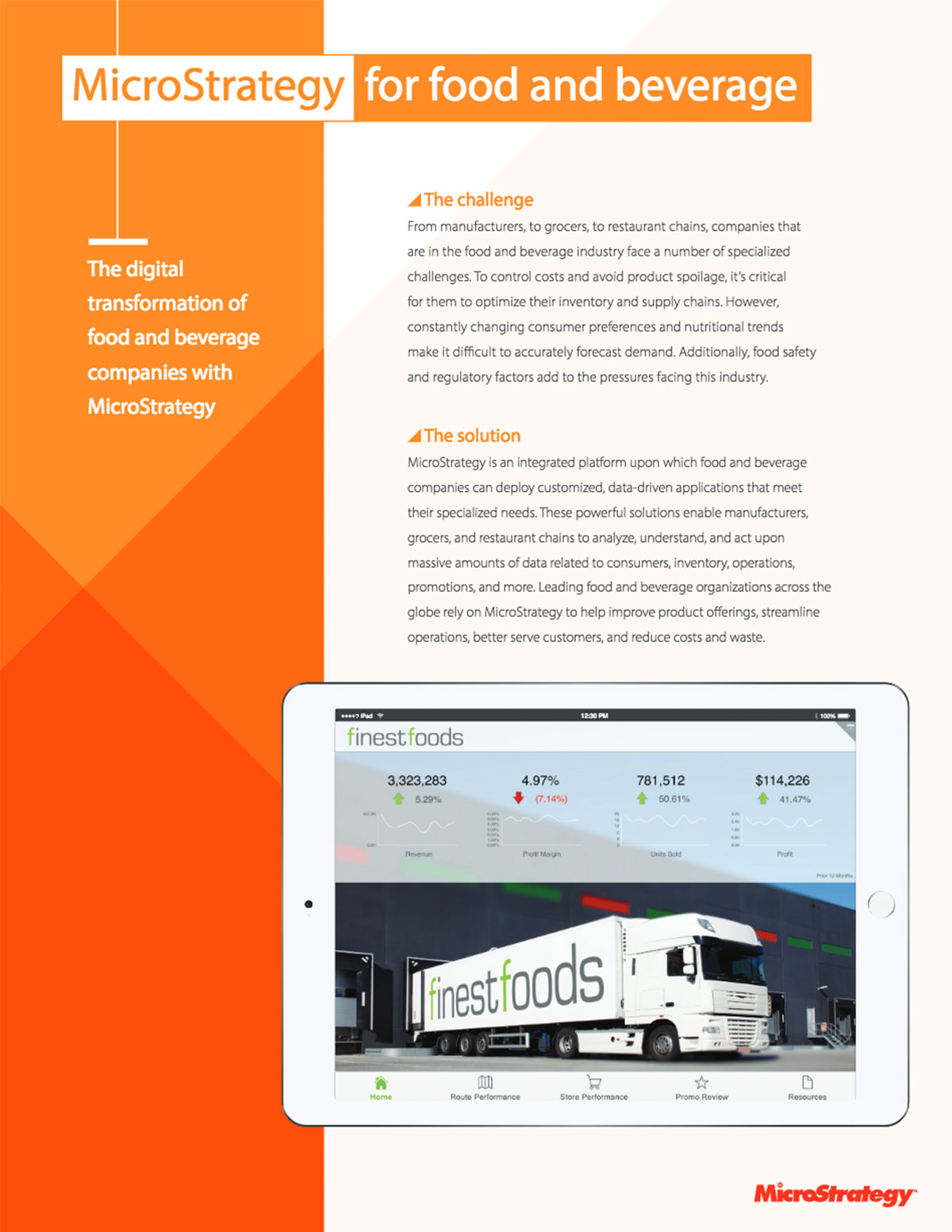 Brochure - MicroStrategy for Food and Beverage | MicroStrategy