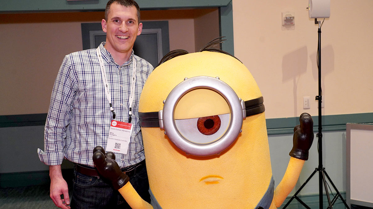 Attendee with minion character